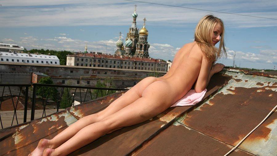 Порно на крыше смотреть
